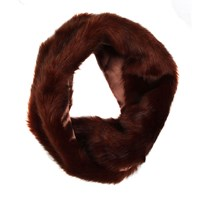 Dents Ladies Faux Fur Twisted Eternity Scarf