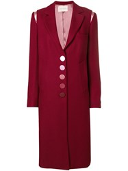 Marco De Vincenzo Supertwill Single Breasted Coat Red