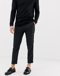 Pull And Bear Pullandbear Slim Tailored Trousers In Grey Houndstooth