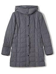Precis Petite Amber Quilted Hooded Coat Grey