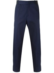 Alexander Mcqueen Straight Leg Trousers Blue