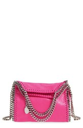 Stella Mccartney 'Tiny Falabella' Faux Leather Crossbody Bag Pink Hot Pink