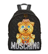 Moschino Quilted Bear Backpack Female Blk