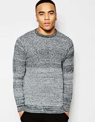 New Look Crew Neck Jumper With Black And White Knit