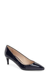 Delman 'Sia' Pump Women Deep Blue Patent Leather