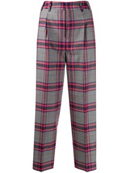Pt01 Checked Cropped Trousers 60