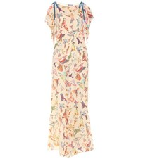 Red Valentino Printed Silk Jumpsuit Multicoloured