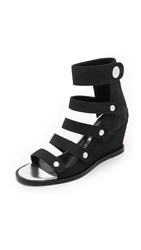 Opening Ceremony Olivia Wedge Sandals Black