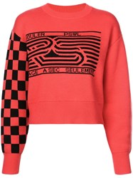 Proenza Schouler Mixed Print Sweatshirt Red