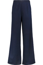 Iris And Ink Paula High Rise Wide Leg Jeans Dark Denim
