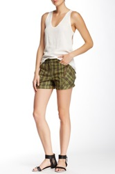 L.A.M.B. Plaid Bermuda Short Green