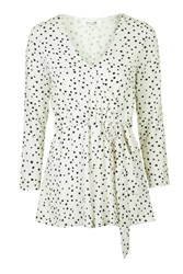 In Your Eyes Star Print Playsuit By Wyldr Ivory