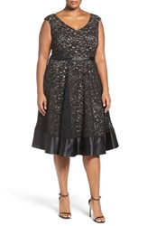 Alex Evenings Plus Size Women's Embellished Waist Lace Party Dress