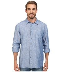 Quiksilver Waterman Burgess Isle Traditional Woven Top Indigo Men's Clothing Blue