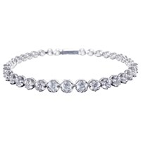 Ivory And Co. Graduating Cubic Zirconia Tennis Bracelet Silver