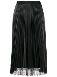 Twin Set Pleated Skirt Black