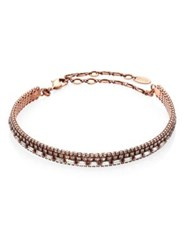 Erickson Beamon Splendor In The Rose Crystal Choker Rose Gold
