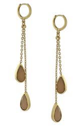 Women's Vince Camuto Jeweled Drop Earrings Gold Coral