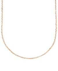 Macy's 14K Rose Gold Necklace 16' Perfectina Chain