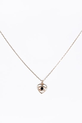 Evil Eye Heart Necklace In Gold At Urban Outfitters