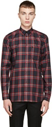 Givenchy Red And Green Checkered Shirt