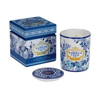 Castelbel Gold And Blue Ceramic Candle