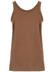 Lilly Sarti Loose Tank Top Brown