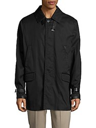 Brioni Leather Long Sleeve Jacket Black Grey