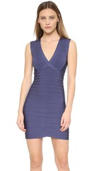 Herve Leger Rocio Dress Deep Sea