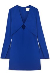 Dion Lee Tessellate Cutout Cady Mini Dress Blue
