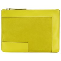 Jaeger Laboratory Leather Clutch Bag Yellow