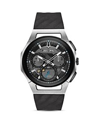 Bulova Curv Watch 44Mm Gray Black