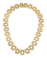Lulu Frost Amp Crystal Necklace Gold