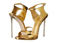 Giuseppe Zanotti Back Buckle Slide Shooting Oro High Heels Gold