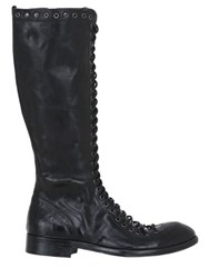 Jo Ghost Lace Up Leather Boots