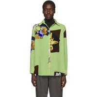 Acne Studios Green Crepe Staia Shirt