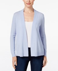 Charter Club Petite Cashmere Open Front Cardigan Only At Macy's Dusty Robin
