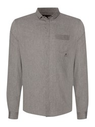 Label Lab Fellow Covered Button Shirt Grey