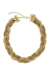 Eye Candy Los Angeles Braided Chain Necklace Metallic