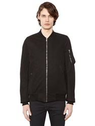 Rick Owens Drkshdw Cotton Canvas Bomber Jacket