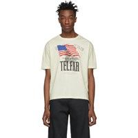 Telfar Beige Logo Graphic Tour T Shirt