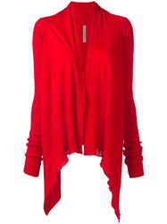 Rick Owens Medium Wrap Cardigan Red