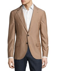 Brunello Cucinelli Wool Blend Deconstructed Jacket Quinoa