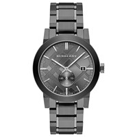 Burberry Bu9902 Men's The City Date Bracelet Strap Watch Gunmetal