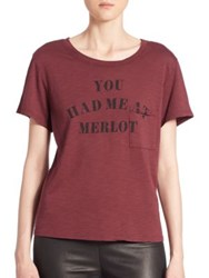 Feel The Piece Gabels You Had Me At Merlot Tee Aubergine