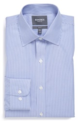 Bonobos 'Banker Stripe' Slim Fit Wrinkle Free Stripe Dress Shirt Online Only Blue