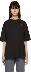 6397 Ssense Exclusive Black Embroidered Rose Sport T Shirt
