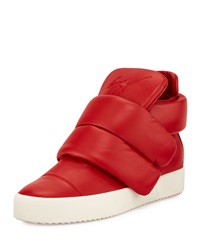 Two Strap High Top Sneaker Red Giuseppe Zanotti
