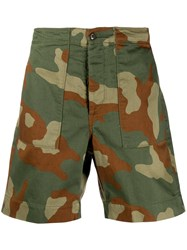 Bellerose Camouflage Print Shorts Green