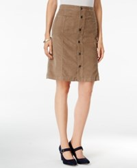 Styleandco. Style Co. Button Front Corduroy Skirt Only At Macy's New Rye